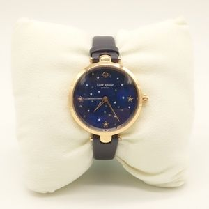 NWT KATE SPADE Stars At Night Metro Watch Leather